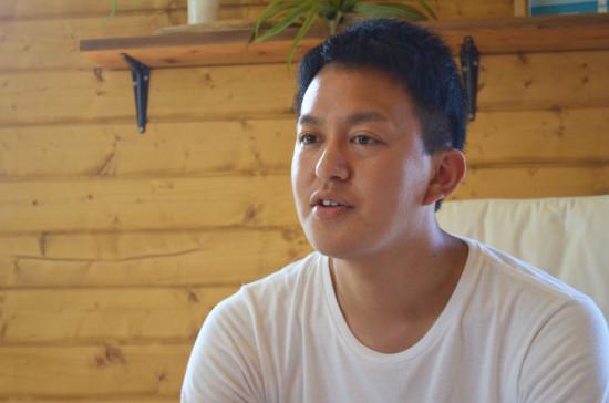 金谷で地域の仕掛け人として知られる、滝田一馬氏